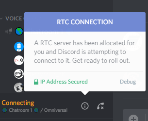 How To Solve Discord RTC Connecting?