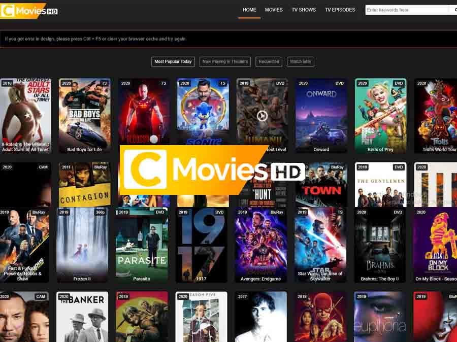 Cmovies 2021 - Illegal HD Movies Download Website