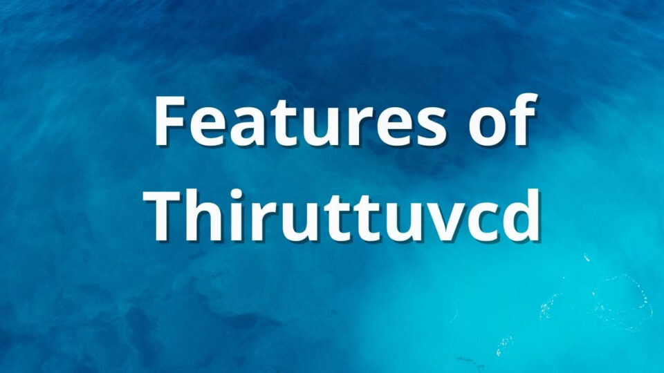 Features of Thiruttuvcd